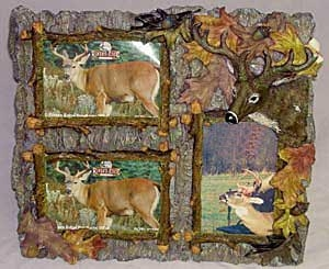 3 Photo Deer Fall Picture Frame