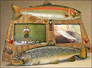 2 Photo Trout Picture Frame